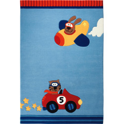 Alfombra HAPPY STREES CARS 120X180